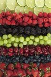 Layer of assorted fruits Stock Photo