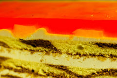 Layer cake. Layer fruit cake with jelly Royalty Free Stock Image
