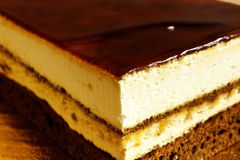 Layer cake. With cocoa and cream Royalty Free Stock Photo