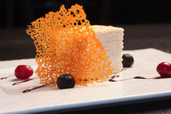 Layer cake with berries Royalty Free Stock Images