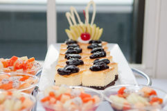 Layer Cake with blueberries Stock Photography