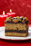 Layer cake decorated with dried fruits and honey Stock Photography
