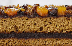Free Layer Cake Decorated With Dried Fruits And Honey Stock Photography - 38452842