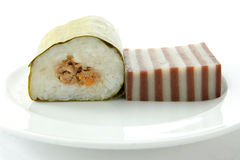 Layer cake and lemper cake Stock Image