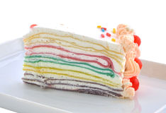 Layer cake. On white background Royalty Free Stock Photography