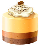 Layer cakes with creame topping. Illustration stock illustration