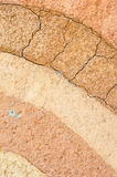 Layer of dry soil cracks texture and background Royalty Free Stock Images