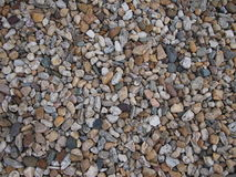 Layer of gravel. Detailed view of a layer of gravel stock photos