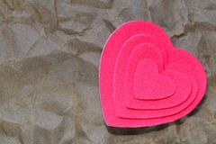Layer hearts Stock Image
