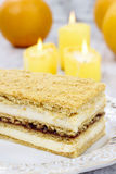 Layer honey cake Stock Photography
