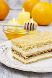 Layer honey cake. Festive and party dessert Stock Image