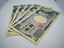A layer of japanese note royalty free stock photos