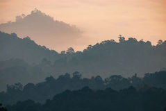 Layer of Mountain at Huay Nam Dung National Park Stock Photos