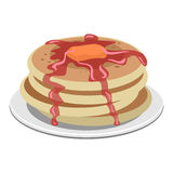 Layer of Pancake Royalty Free Stock Photo