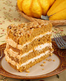 Layer Pumpkin Cake Royalty Free Stock Photos