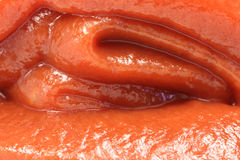 Layer of red tomato paste Stock Photo