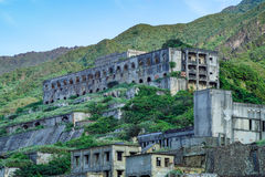 13-Layer Remains Remains of Copper Refinery in Yinyang Sea of Shuinandong, Ruifang District, New Taipei, Taiwan. Stock Photo