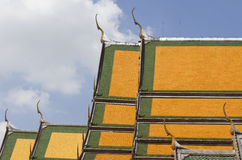Layer of roof at Sutat Temple Royalty Free Stock Images