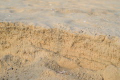 The layer of sand. On the beach Royalty Free Stock Photos