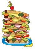 Layer sandwich loaf sandwich sausage stuffing Stock Photos