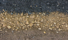Layer of soil Stock Photography
