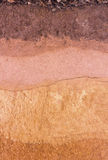 Layer of soil underground Royalty Free Stock Photography