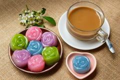 Layer Sweet Cake (Kanom Chan). Royalty Free Stock Image