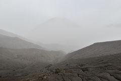 Layer Volcanic ash as sand ground of Mount Bromo Stock Photos