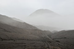 Layer Volcanic ash as sand ground of Mount Bromo Royalty Free Stock Photography
