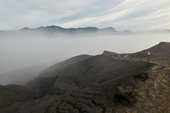 Layer Volcanic ash as sand ground of Mount Bromo Stock Images