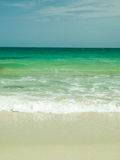 Layer. White sand and blue sea from thailand Royalty Free Stock Photos
