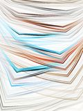 Layered Bent Threads Abstract Stock Image