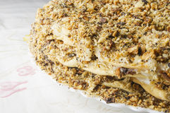 Layered big holiday cake Royalty Free Stock Photography
