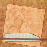 Layered and bound vintage papers Royalty Free Stock Photos