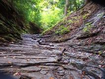 Layered Canyon. Layered prehistoric canyon bed Royalty Free Stock Photography