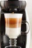 Layered cappuccino Stock Image