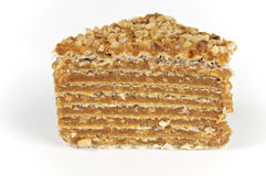 Layered caramel cake Royalty Free Stock Image