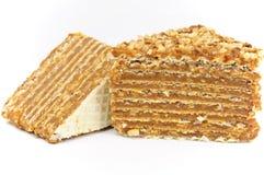 Layered Caramel Cake Stock Image