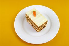 Layered Carrot Cake Royalty Free Stock Image