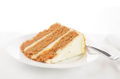 Layered carrot cake Royalty Free Stock Photo