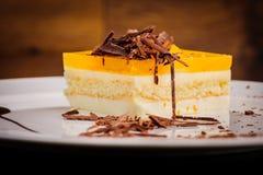 Layered cheesecake Stock Photo