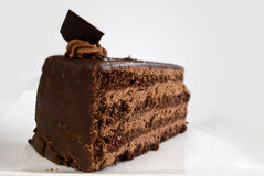 Layered chocolate cake with ganache Royalty Free Stock Photography