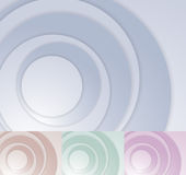 Layered circle background template Stock Images
