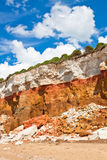 Layered cliffs at Hunstanton vertical image Royalty Free Stock Images