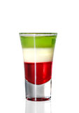 Layered Cocktail with Absinthe Stock Photos