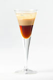 Layered cocktail. Layered beige and brown cocktail Stock Photo