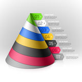 Layered cone design element Stock Photos