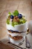 Layered cream dessert Stock Images