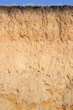 Layered cut of soil Stock Photography