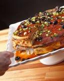 Layered enchilada Royalty Free Stock Images